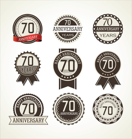 70 years: Anniversary label collection, 70 years Illustration