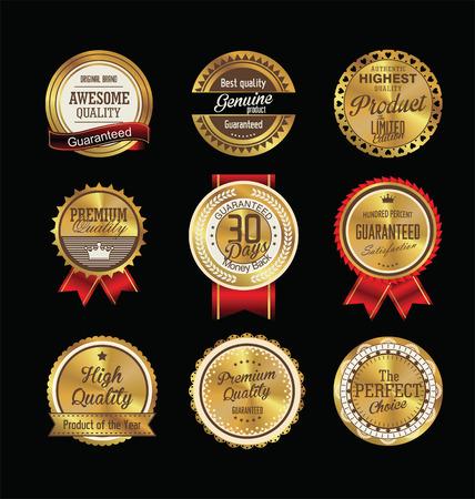 guarantee: Vintage sale labels collection design elements, Premium quality
