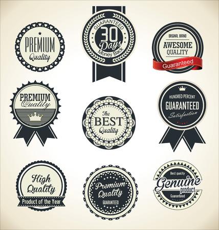 retro badge: Quality Retro vintage badge collection Illustration