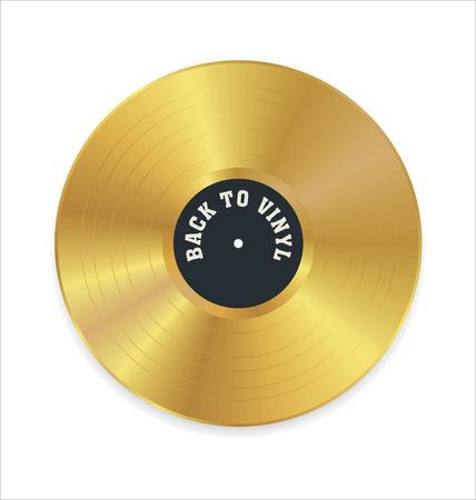 Golden vinylplaat Stock Illustratie