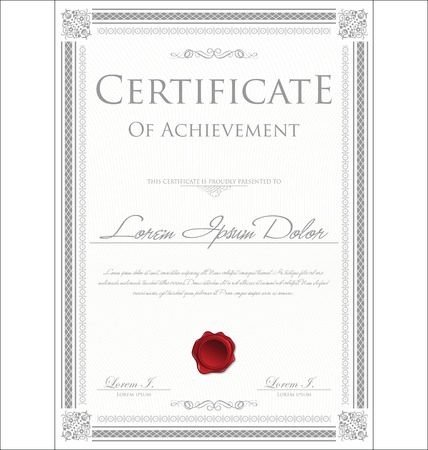 certificate  calligraphy: Certificate template Illustration