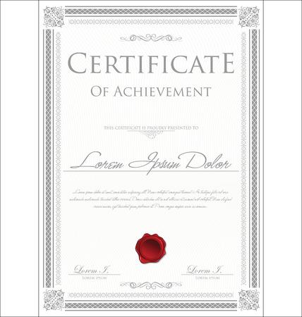 bordes decorativos: Plantilla de certificado Vectores