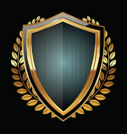military shield: Golden shield