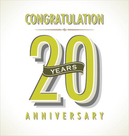 20th: Anniversary retro background