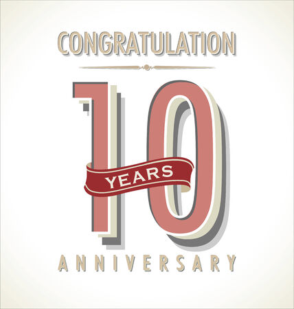 Anniversary retro background Vector