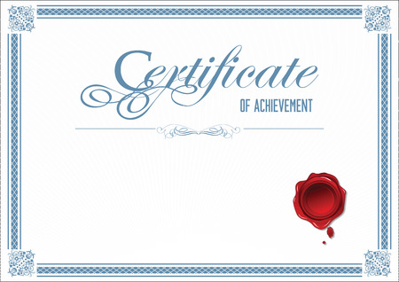 layout template: Certificate template Illustration