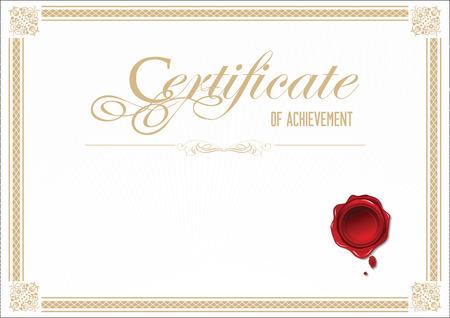 Zertifikatvorlage Standard-Bild - 34391579