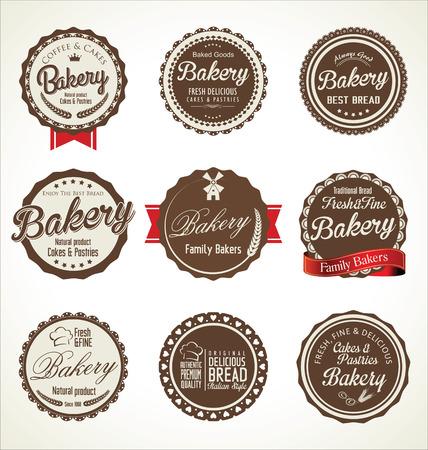 battledore: bakery retro badges collection