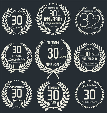 30th: 30th Anniversary laurel wreath design