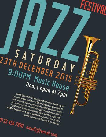 Affiche du festival de Jazz Banque d'images - 34682972
