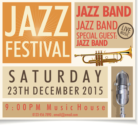 brass band: Jazz festival poster