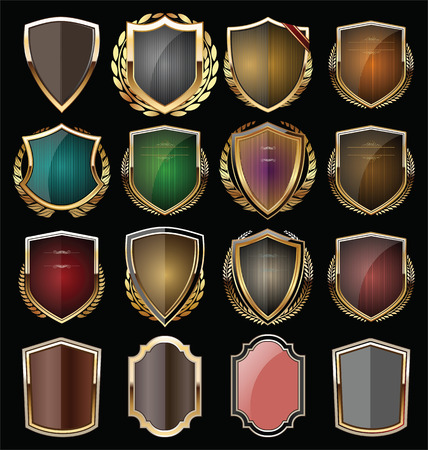 medieval banner: Golden shield collection