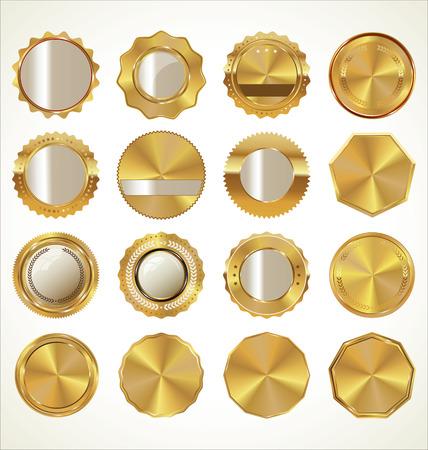 hoja en blanco: Colecci�n de etiquetas de oro