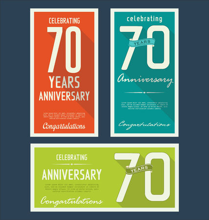 70: Anniversary label collection, 70 years Illustration