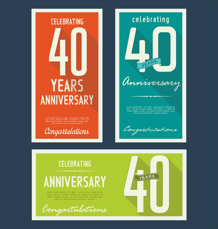40: Anniversary label collection, 40 years Illustration