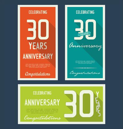 anniversaire: collection d'�tiquettes anniversaire, 30 ann�es