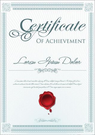 certificate template: Certificate template Illustration