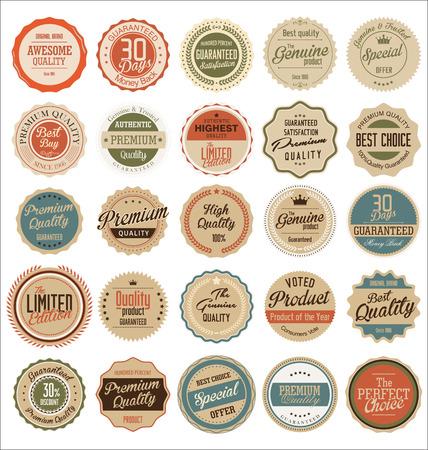 Labels Retro qualidade premium