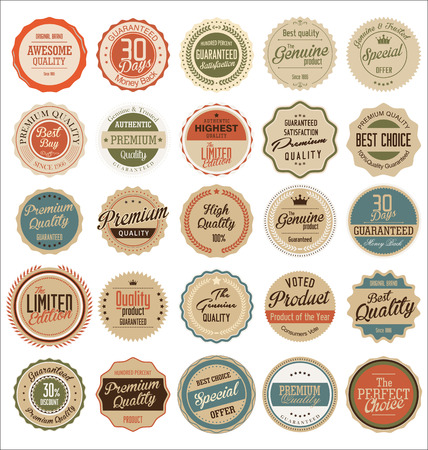 Retro Premium Quality Labels