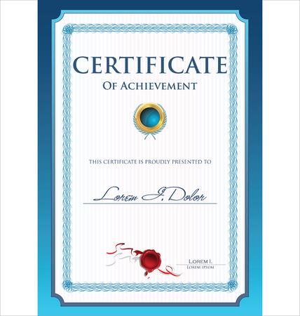 Certificate template Illusztráció