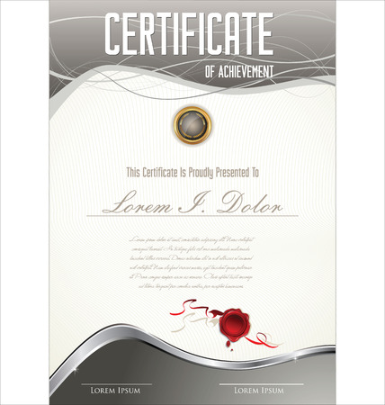 certificate border: Certificate template Illustration