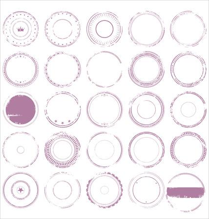 Abstract grunge rubber stamp set Illusztráció