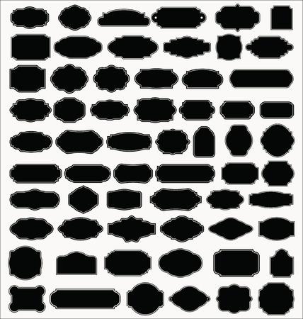 空の空白のビンテージ フレーム、セット  イラスト・ベクター素材