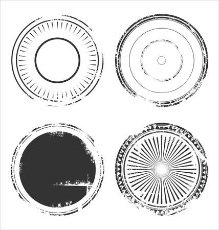grunge rubber stamp: Abstract grunge rubber stamp set Illustration
