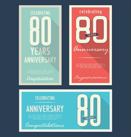 remembered: Anniversary retro background