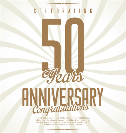 50: Anniversary retro background