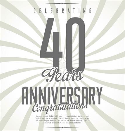 sellos: Aniversario fondo retro Vectores