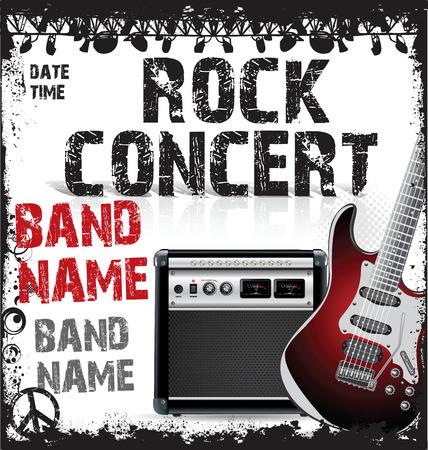 concert poster: Rock festival design template