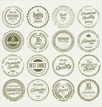 sello: Grunge sello de vectores colecci�n de primera calidad Vectores