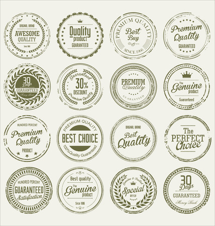 stamp collection: Grunge stamp premium quality vector collection
