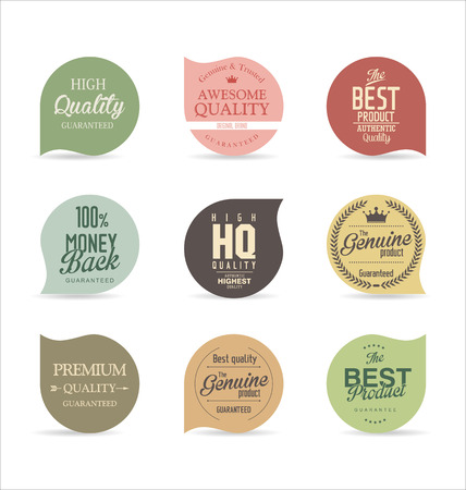 label sticker: Modern badges