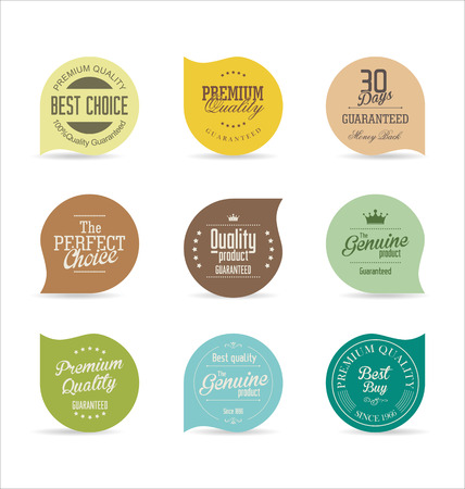sticker: Modern badges