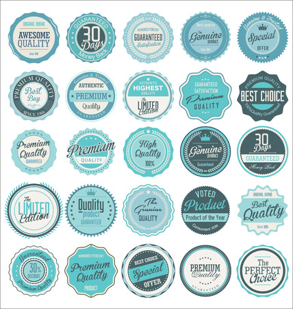 seal: Premium quality retro labels collection