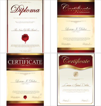 Certificate template collection Illustration