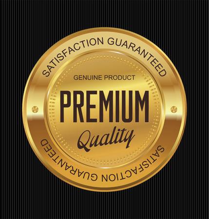 Premium-Qualität garantiert goldenen Etikett Vektorgrafik