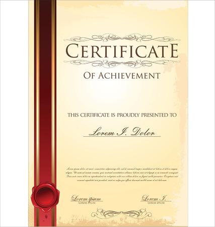 Certificate template Vettoriali