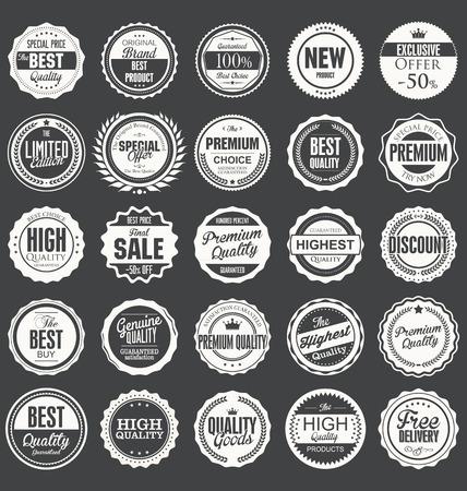 Premium, quality retro vintage labels collection Reklamní fotografie - 37143774