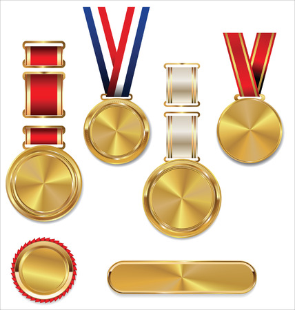 Gold medal, collection Illustration