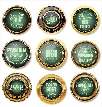 Premium quality retro labels collection Vector