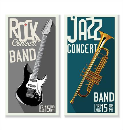 jazz club: Jazz and rock concert banner