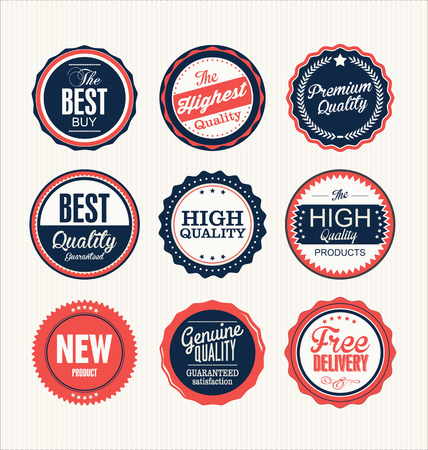 assurance: Premium, quality retro vintage labels collection