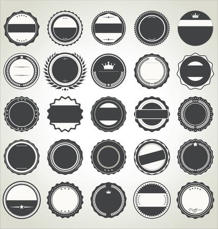 label frame: Set of blank retro vintage badges Illustration