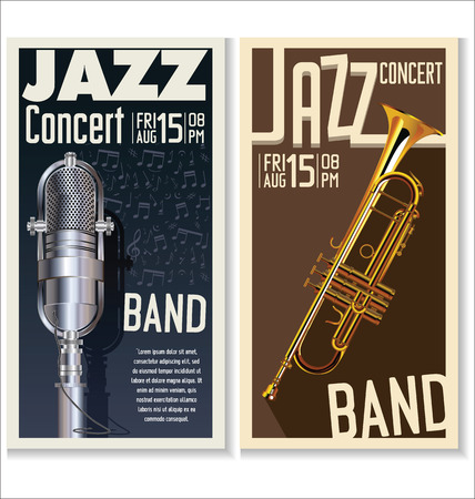 Jazz music festival, poster Illustration