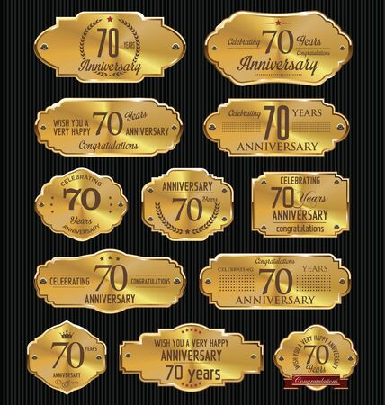 70 years: Anniversary golden labels collection, 70 years