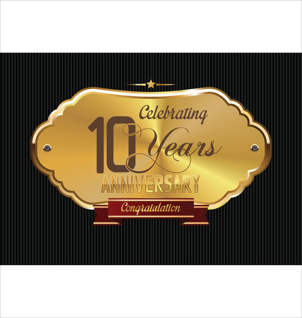 10 years: Anniversary golden label, 10 years