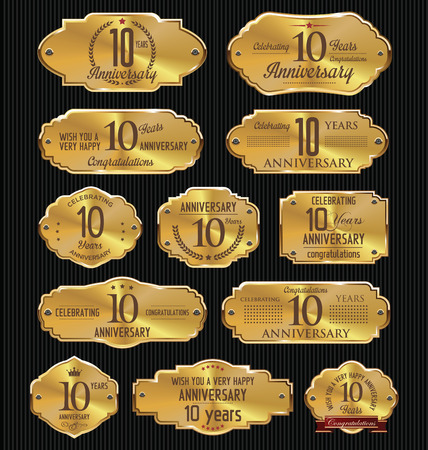 10 years: Anniversary golden labels collection, 10 years